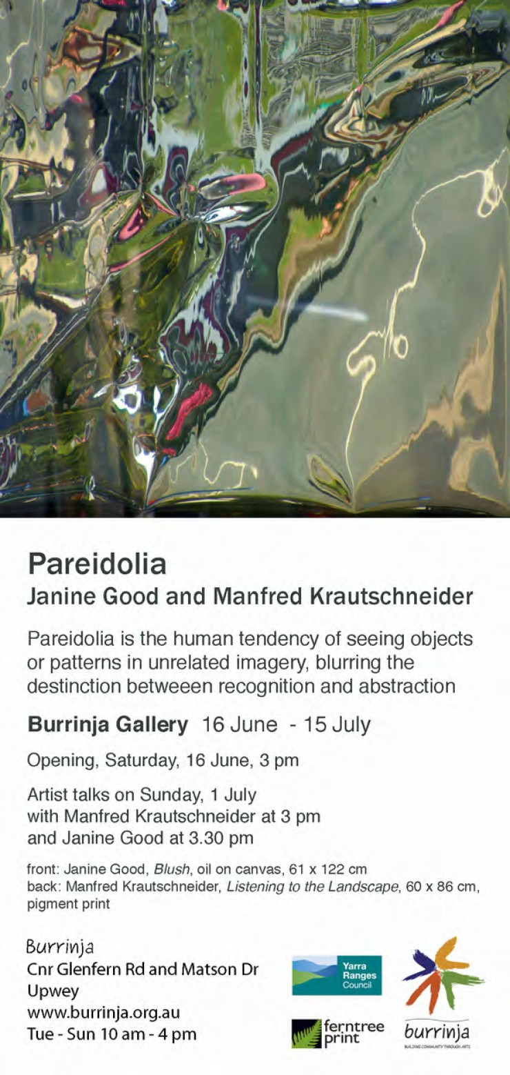 "Invitation to ""Pareidolia"" at Burrinja Gallery"